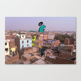 Monsters of Delhi - Stalker and a Hottee Canvas Print