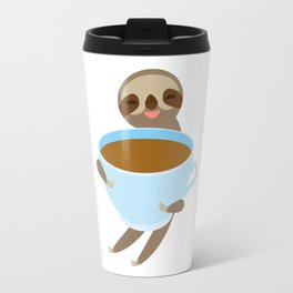 sloth & coffee 3 Travel Mug