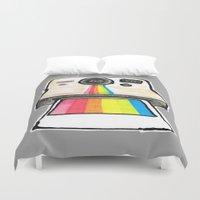 polaroid Duvet Covers featuring Polaroid by daniel davidson