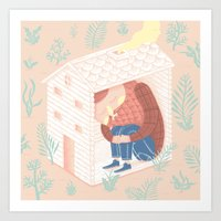 woods Art Prints featuring Woods. by Alejandro Giraldo