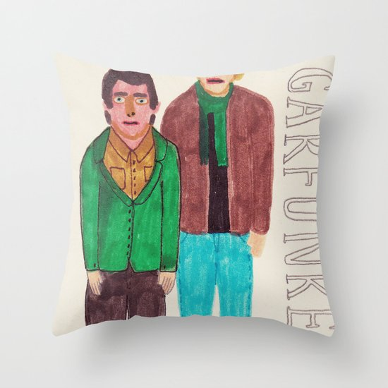 Simon & Garfunkel Throw Pillow