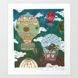 Hot Air Balloons I Art Print