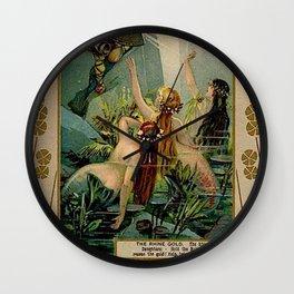 Gold of Rhine Vintage Mermaids Wall Clock