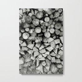 Stacking wood... Metal Print