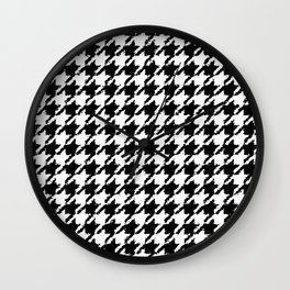 Houndstooth Large Wobbly Pattern Wall Clock