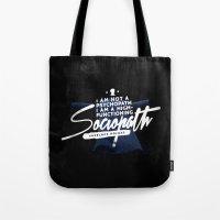 sherlock holmes Tote Bags featuring Sherlock Holmes by thatfandomshop