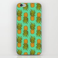 pineapples iPhone & iPod Skins featuring Pineapples by Stephanie Keir