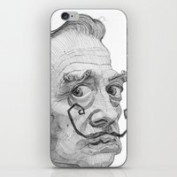 salvador dali iPhone & iPod Skins featuring Salvador Dali by Stavros Damos