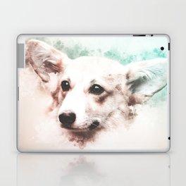 Pembroke Welsh Corgi Digital Watercolor Painting Laptop & iPad Skin