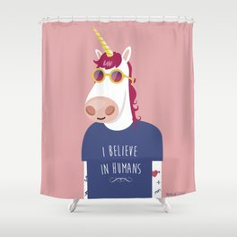 I believe in Humans Shower Curtain