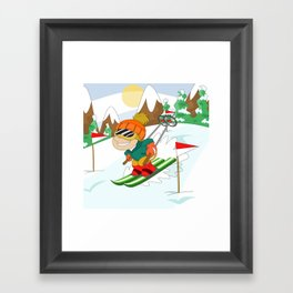Winter Sports: Skiing Framed Art Print