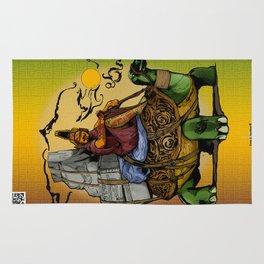 Tortoise Vagabond - Mystic Purveyor of Tales beyond the Desert Sands Rug