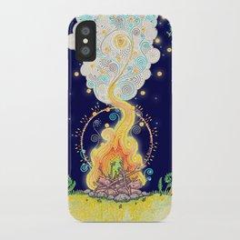 Woodland Campfire iPhone Case