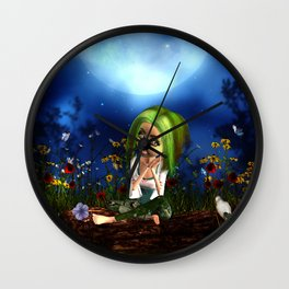 Little fairy Wall Clock