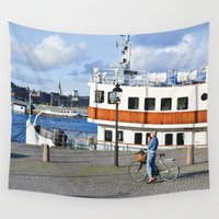 cycling Wall Tapestries featuring Colourful cycling life by biCHICleta