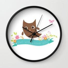 Owlways love you owl Wall Clock