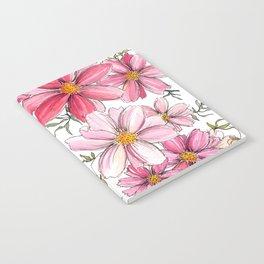 Pink Spring Flower Pattern Notebook