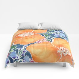 Masked Flora Collection Poppies Comforters