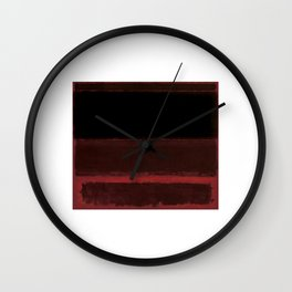 1958 Four Darks on Red by Mark Rothko Wall Clock