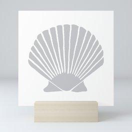 Light Grey Seashell Mini Art Print