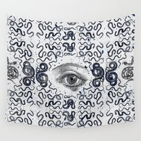 devil Wall Tapestries featuring DEVIL EYE by DIVIDUS DESIGN STUDIO