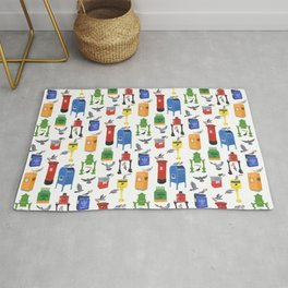 Mailboxes Around the World Rug