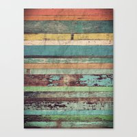 wooden Canvas Prints featuring Wooden Vintage  by Patterns and Textures