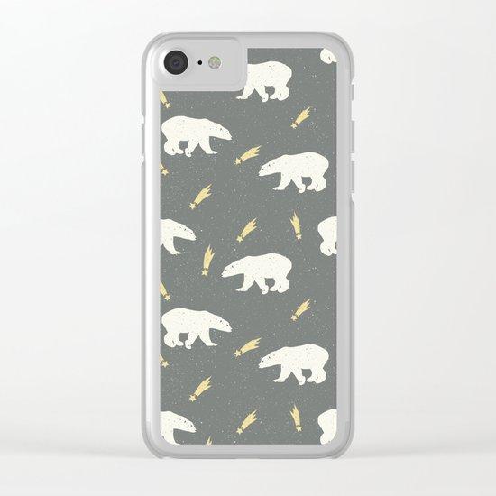 Merry Christmas- Animal Polar bear - pattern Clear iPhone Case