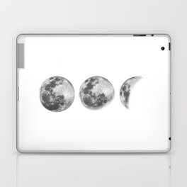 Full Moon cycle black-white photography print new lunar eclipse poster bedroom home wall decor Laptop & iPad Skin