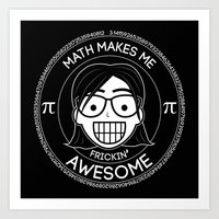 Frickin Awesome - Math Girl Art Print