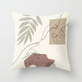 Touch my soul Throw Pillow