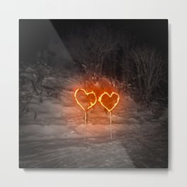 Burning hearts Metal Print