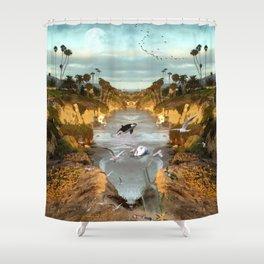 Fantasy Laguna beach Shower Curtain