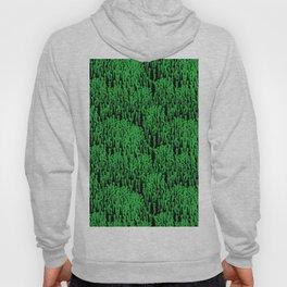 Cascading Wisteria in Green + Black Hoody