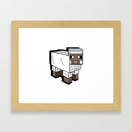 MlNECRAFT Sheep Framed Art Print