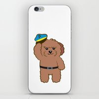 police iPhone & iPod Skins featuring Poodle Police by Tetchan