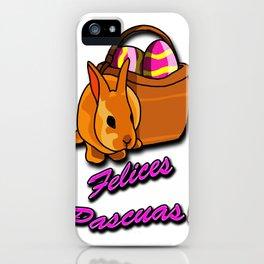 Felices Pascuas iPhone Case