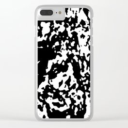 Black & White Abstract Clear iPhone Case