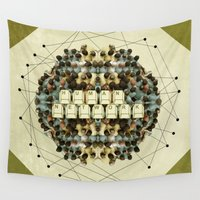 human Wall Tapestries featuring Human Network by Barruf
