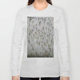 Birch Bark on a Fallen Tree Long Sleeve T-shirt