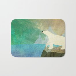 Playful Arctic Polar Bear Bath Mat