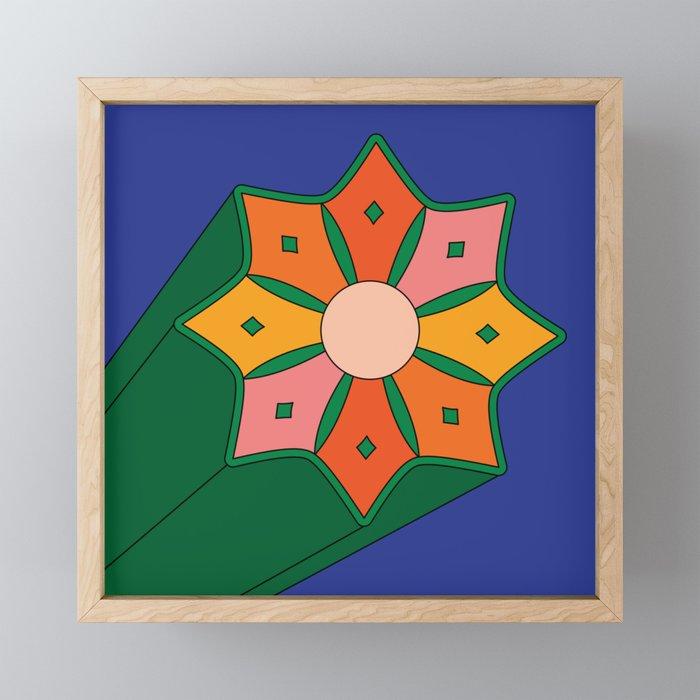 Summer Starburst Framed Mini Art Print