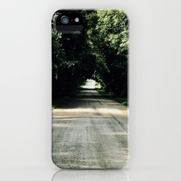 Lost in a Beautiful Green Tunnel iPhone Case