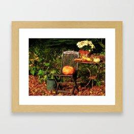 Fall Seating Framed Art Print