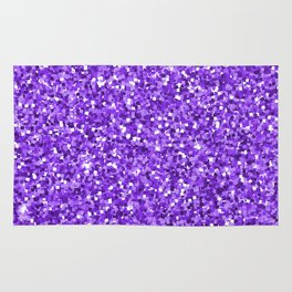 Hot purple white modern abstract pattern Rug