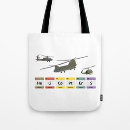 Military Helicopters Chemistry Tote Bag