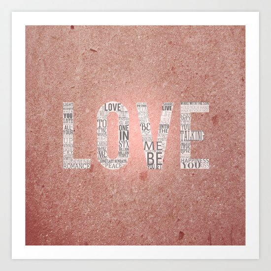 Love in a Word  Art Print