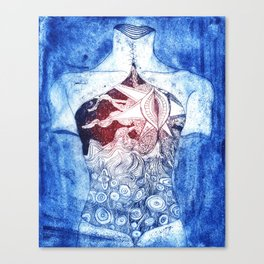 The body Canvas Print