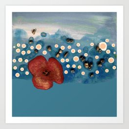Coquelicot intemporel bis Art Print
