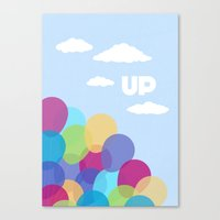 pixar Canvas Prints featuring Pixar/Disney Up (Print 2) by Teacuppiranha